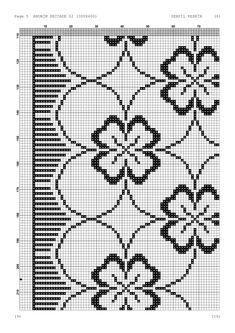 - Makramee World 2020 Cross Stitch Rose, Cross Stitch Borders, Cross Stitch Patterns, Blackwork Embroidery, Hand Embroidery, Embroidery Designs, Filet Crochet, Crochet Stitches, Crochet Table Runner