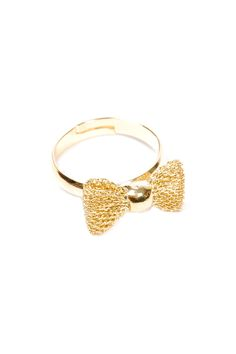 Fishnet bow gold-plated brass ring. An elegant accessory to wear with your little black dress Fishnet Bow Ring by f_licie aussi. Accessories - Jewelry - Rings Accessories - Jewelry - Valentines's Day Bastille, Paris