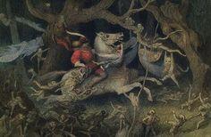 Richard Doyle Richard Doyle, Midsummer's Eve, Walter Crane, La Art, Fairy Art, Illustrations And Posters, Faeries, Illustrators, Fairy Tales
