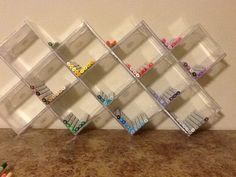 CD Jewel cases and a little super glue make great Copic Marker storage. Hang or sit.
