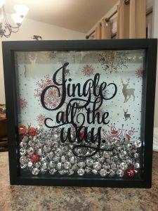 """Jingle all the Way"" shadow box DIY"