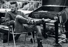 #David Beckham / esquire UK sept. 2012. Photo Josh Olins - #style, #blackwhite, #photoshoot