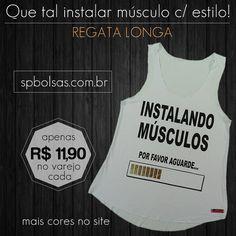 Apenas R$ 11,90. Vamos #malhar sem preguiça e na moda! http://www.spbolsas.com.br/roupas-femininas Todas as Regatas, Tops, Camisetas e Blusas apenas R$11,90 no varejo. Isto mesmo no varejo. Confira no site -->FRETE GRÁTIS<-- para a sua região! #regata #feminina #camisetas #blusas #top #fitness #exercicios #acadêmia #crossfit #esmaga #cresce #nopain #nogain #treino #musculação #jump #pilates #myabs