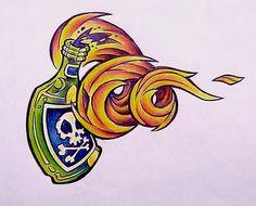 Collin Kasyan's Tattoo Portfolio: Sketchbook - Molotov Cocktail