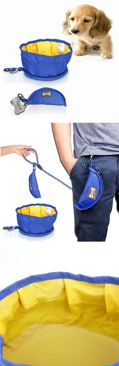 Collapsible Waterproof Pet Dog / Bowl PortableTravel Bowl / Foldable Expandable Cup Dish For Pet