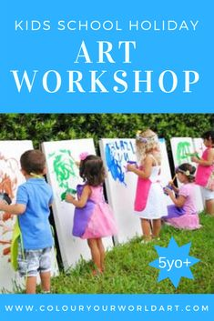 Kids Art Class, Art For Kids, How To Gain Confidence, School Holidays, After School, Workshop, Learning, World, Children