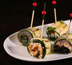 Rotolini di zucchine con salmone, 1