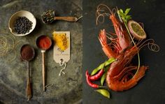 seafood diptych