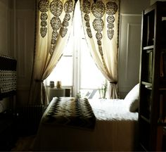 Moroccan Style Curtains, Missoni details, Hide-a-way