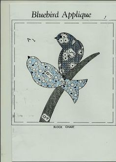 Free Bird Quilt Patterns | applique bird quilt | Tim Latimer - Quilts etc