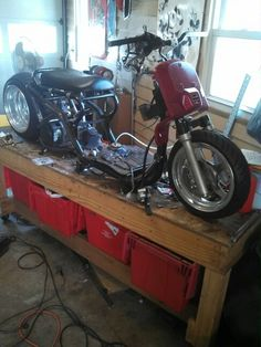 My ruckus clone Honda Ruckus, Bike Shed, Workbenches, Choppers, Cars Motorcycles, Cool Stuff, Toys, Custom Bikes, Activity Toys