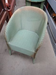 lloyd loom chair - THE most comfortable chairs ever...... don't ever paint these with a brush - spray paint if you must!