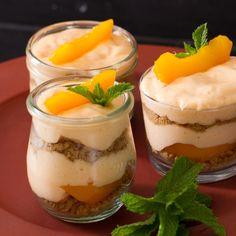 A sweet peach flavoured fridge tart.