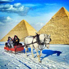 My się zimy nie boimy i jesteśmy tam gdzie ona jest :) a że śnieg spadł w Egipcie to też tam #kuligi robić będziemy ;P #kulig #zima #egipt #piramidy #funnytravel #egypt #piramids #horseslight #horse #snow #winter #photooftheday #impreza #party #snowparty #wintervacations #snowinegypt #wczasy #wycieczki #lol