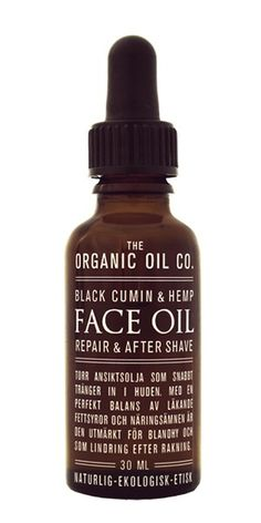 Black Cumin Organic Face Oil - The Organic Oil Co.  http://organicoilco.se/product/face-oil-repair-after-shave