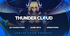 THUNDER CLOUD is a reliable 3D outsourcing studio providing 3D character design and production, Game Asset, 3D animation with excellent quality.