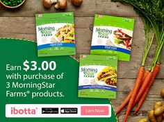 Earn $3 With the Purchase of Any 3 MorningStar Farms® Products at Walmart With Ibotta #DailyVegolutions #ad