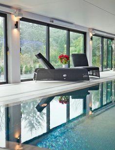 Terrific install by Nirvana AV: Relaxin' by the indoor pool.