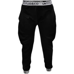 Ky Pants in Black Untitled Co ($148) ❤ liked on Polyvore featuring pants, bottoms, sweats and sport