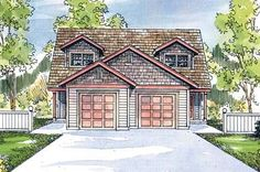 Multi-Family Plan 69645 | Craftsman    Plan with 2426 Sq. Ft., 6 Bedrooms, 4 Bathrooms, 2 Car Garage