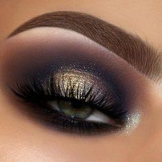 Eye Makeup Glitter, Black Eye Makeup, Eye Makeup Tips, Glam Makeup, Makeup Inspo, Makeup Inspiration, Beauty Makeup, Makeup Ideas, Makeup Tutorials