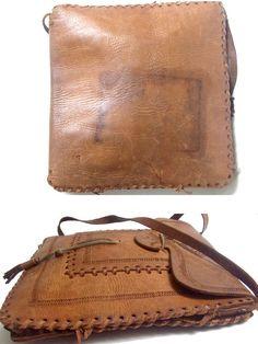 70s MOROCCAN BAG tooled / shoulder