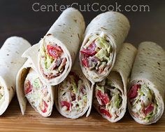 BLT Wraps! These make the BEST lunches ever!