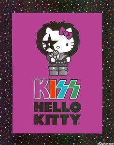 Kiss Hello Kitty Fabric