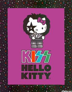 Kiss Hello Kitty Fabric