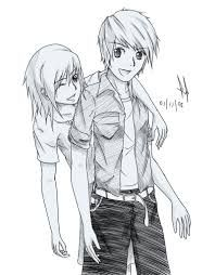 Boy And Girl Drawing : drawing, Sketch, Sketches, Girls, Friend, Drawings,, Drawings, Friends,, Drawing