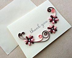 Büttenpapier Stachelbesetzter Dankeschön-Karte