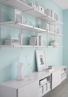Make the most of small spaces by utilizing wall space with the EKBY JÄRPEN/EKBY GÄLLÖ wall shelves.