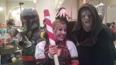 Harley Quinn (game Batman Arkham Knight), Boba Fett e Darth Sidious (Star Wars).