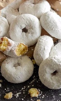 Mini Powdered Sugar Doughnuts-This quick and easy Mini Powdered Sugar Doughnut recipe comes together in just 20 minutes! These sweet treats make a great snack, breakfast, brunch or dessert item. A yummy pastry for kids or adults and perfect any time of the year. Great to make for the holidays or for slumber party and sleep overs. Surprise your kids with these in their lunch boxes.