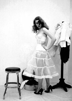 1950s crinoline and bustier