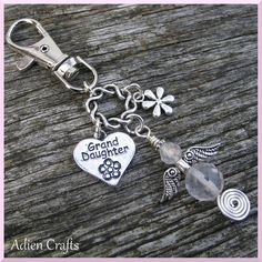 Grand Daughter Guardian Angel Purse or Bag Charm by adiencrafts, £5.95