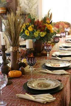 25 Beautiful Fall Table Settings - Style Estate -
