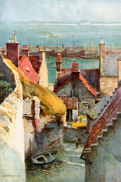 Ernest William Haslehust (1866 - 1949) was an English landscape painter who worked in watercolours
