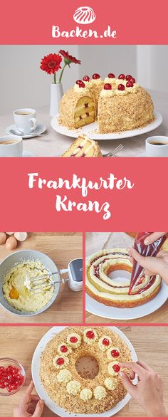 Frankfurt an der Oder wreath A true classic, which is almost a bit retro. But always a real treat. Southern Recipes, Sweet Recipes, Cake Recipes, Dessert Recipes, Best Vegan Chocolate, Chocolate Desserts, Food Cakes, Spring Desserts, Cake & Co