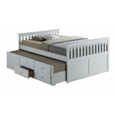 Zilla Mate S Captain S Bed With Trundle Captains Bed Full Bed With Trundle Kids Bedroom Furniture