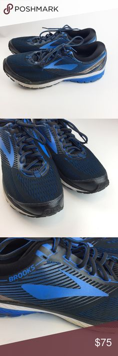 Brooks DNA Men's Tennis Shoe Athletic Size 14 Brooks DNA Men's Tennis Shoe Athletic Workout Running Blue Black Size USA 14  From a smoke-free home  Good Gently Used Condition, some light wear -see photos of scuffs Brooks Shoes Athletic Shoes