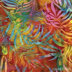 Island Batik ferns