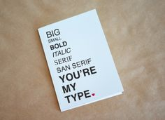 typography valentine.