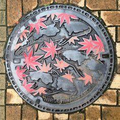 Au Japon, les plaques d'égout sont de véritables oeuvres d'art