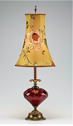"""Frankie"" Mixed-Media Table Lamp Created by Caryn Kinzig, Susan Kinzig"