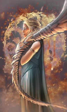 Game of Thrones - Daenerys Targaryen by Billot Delphine Daenerys Targaryen Art, Khaleesi, Targaryen House, Winter Is Here, Winter Is Coming, Game Of Thrones Illustrations, Got Game Of Thrones, Game Of Trones, My Champion