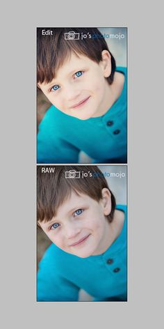 before and after edit. His eyes are sooooooo blue. No selective editing was done to enhance his eyes--just overall color tone/contrast and blend mode adjustments. #specialneedsphotography #autism #specialneeds #photoshop #photoedit www.josphotomojo.com
