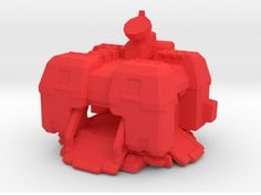 Starcraft board game terran Factory in Red Strong & Flexible Polished