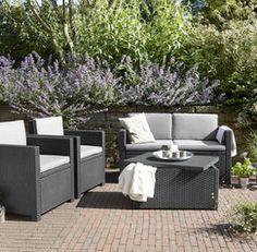 Amazon.de: Koll Living Lounge Set Korsika in anthrazit, inkl ...