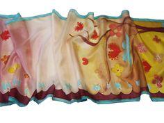 Szerelemfa selyem sál - ajándék nőknek valentin napra, évfordulóra, születésnapi ajándék lányoknak. Kérd a kedvenc színeidben!  http://silkyway.hu/szerelemfa-selyem-salak-40-150cm.html